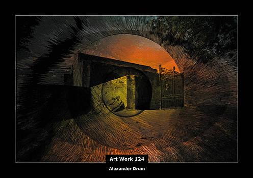 Art Work 124 das Auge zum Friedhof by Alexander Drum