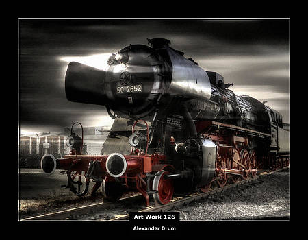 Alexander Drum - Art Work 126 steam locomotive