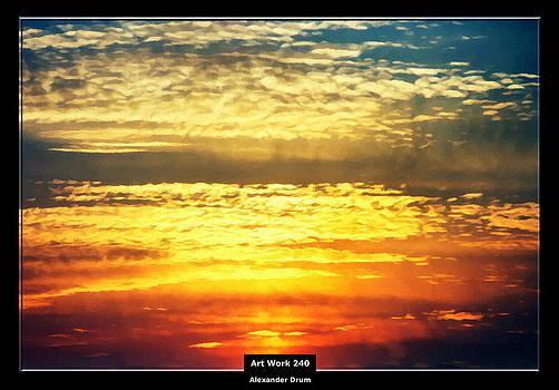Alexander Drum - Art Work 240 sunset