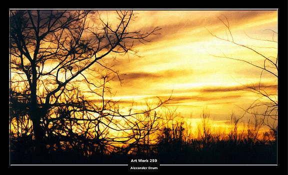 Alexander Drum - Art Work 250 sunset