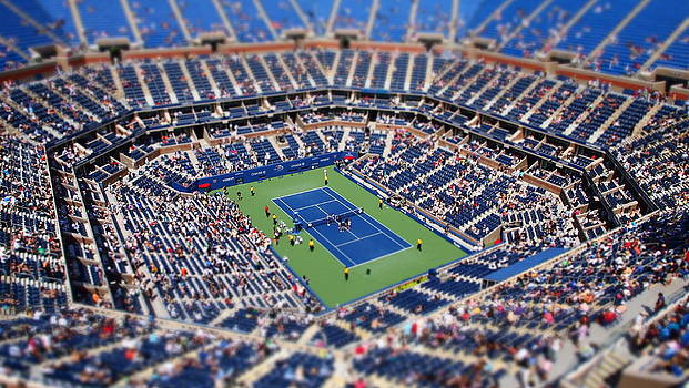 Arthur Ashe Stadium from High Angle by Mason Resnick