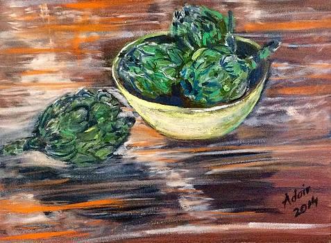 Artichokes in Yellow Bowl by Adair Robinson