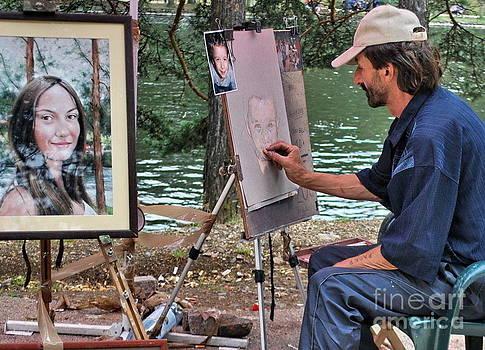 Artist by the lake by Marija Djedovic