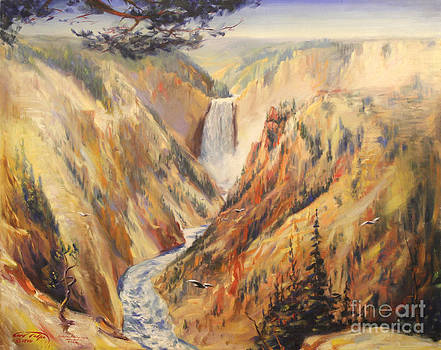 Art By Tolpo Collection - Artist Point at Yellowstone 1940
