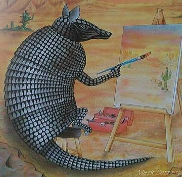 Artistic Armadillo by Mark Barnett