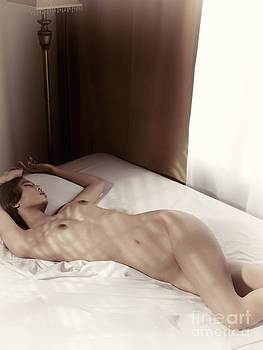 Artistic photo of a young woman sleeping naked in bed by Oleksiy Maksymenko