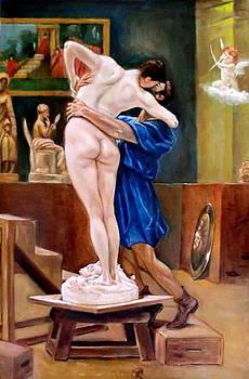 artist's dream after Jean leon Gerome by Hidemi Tada