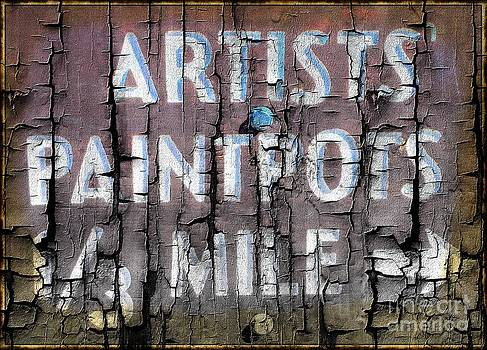 Artists' PaintPots Sign by Kathleen Struckle