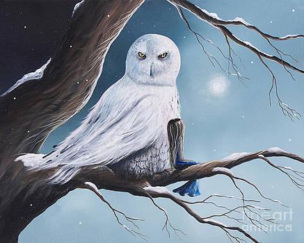 Shawna Erback - White Snow Owl Painting