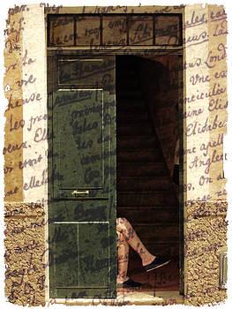 Pedro Cardona Llambias - As time goes by - Taking a sunbath in a house door of a antique ciutadella de menorca street