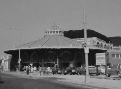 Asbury Park NJ Carousel BW by Joann Renner