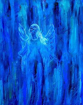 Ascending Blue Angel by The Art With A Heart By Charlotte Phillips