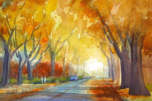 Ash Trees in November by Virginia White