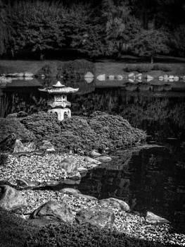 Ray Van Gundy - Asian Garden in Black and White