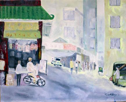 Asian Street Traffic by Aleezah Selinger