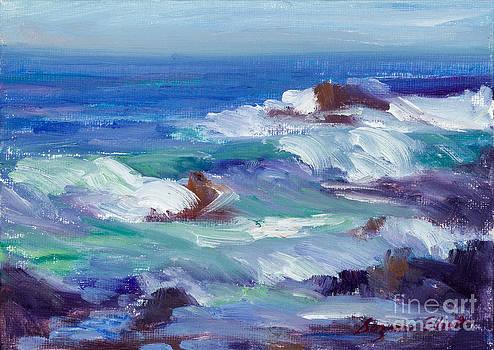 Asilomar Wave Action by Suzanne Elliott