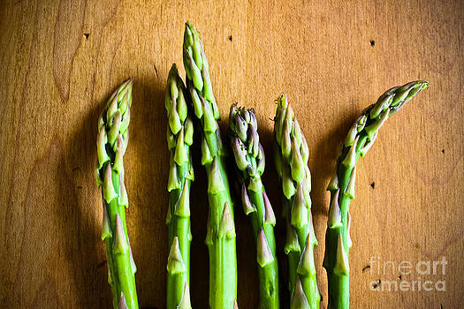 Six Asparagus Tips by Colleen Kammerer