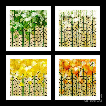 Andee Design - Aspen Colorado Abstract Square 4 In 1 Collection
