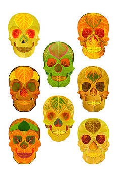 Aspen Leaf Skulls Poster 2014 by Agustin Goba