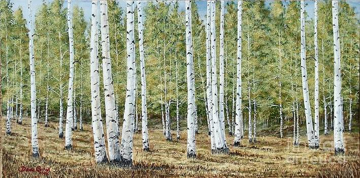 Aspen South Saddle Blue Mtn 24 x 48 by Dana Carroll