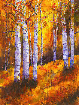 Aspen Trees by Barb Capeletti