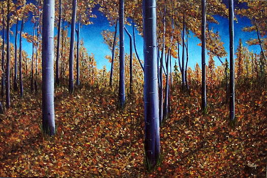 Aspens in Autumn II by Helen Eaton