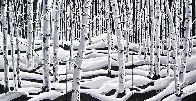 Aspens Triptych by Reveille Kennedy