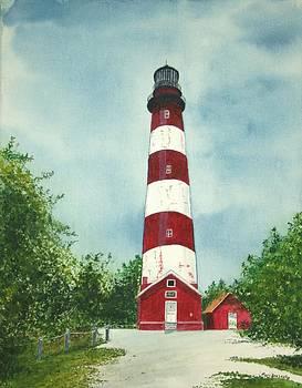 Assateague Light House by Mary Ann Leake
