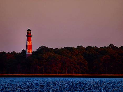 Assateague Lighthouse at Sunset by Alicia Zimmerman