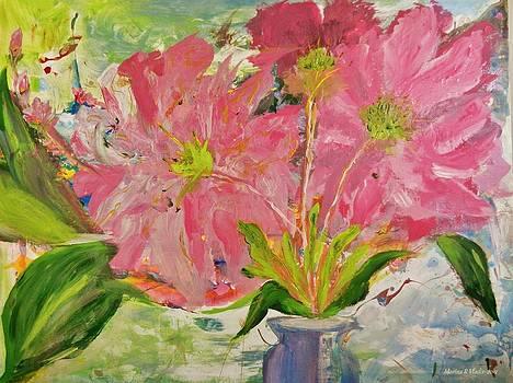 Asters in the Vase by Marina R Raimondo