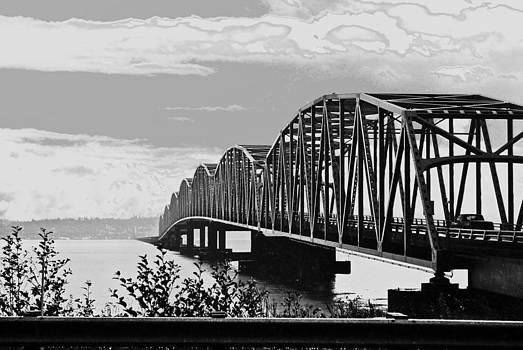 Astoria Bridge Wa. side by Rae Berge