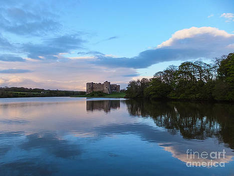 At Carew Castle  Pembrokeshire Wales by Corinne Johnston