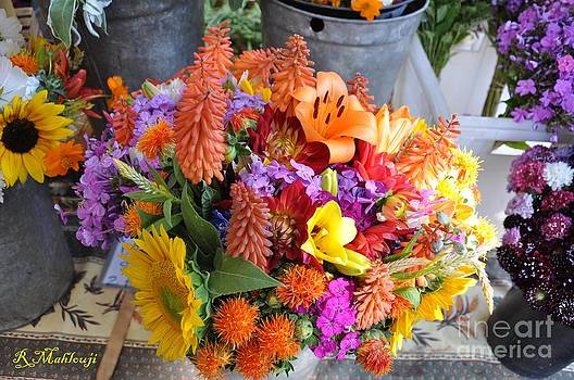 Beautiful Flowers At Boulder Farmers Market  by R Mahlouji