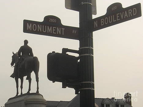at Monument and Boulevard by Nancy Dole McGuigan