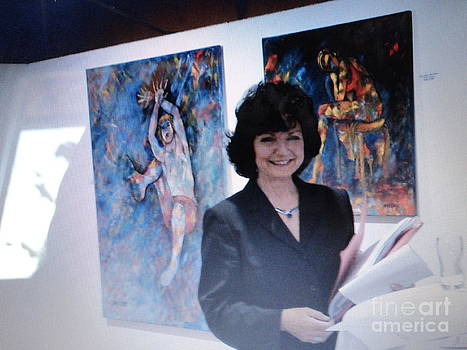 At my Exhibition 2010  by Dagmar Helbig