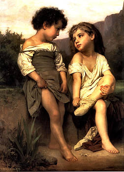 At The Edge Of The Brook by William Adlophe Bouguereau