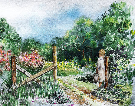 At The Gate Summer Landscape by Irina Sztukowski