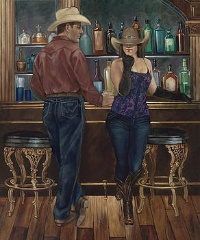 At the Palace Saloon by Geraldine Arata