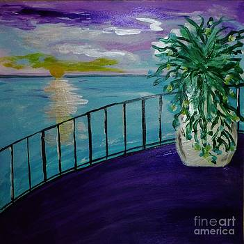 At the Railing II by Marie Bulger