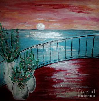At the Railing by Marie Bulger