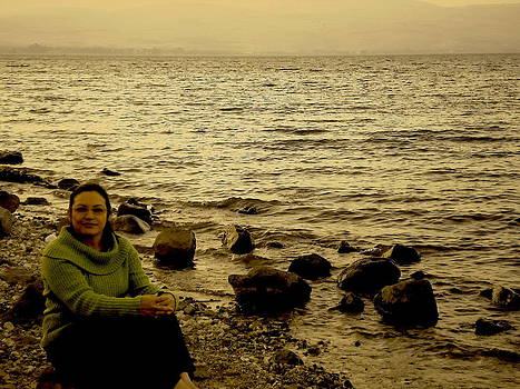 Sandra Pena de Ortiz - At the Shores of the Sea of Galilee