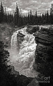 Gregory Dyer - Athabasca Falls - Jasper National Park - 02 - black and white