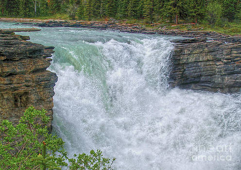 Athabasca Falls Study V close-up by Skye Ryan-Evans