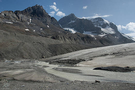 Athabasca Glacier by Kenneth Hadlock