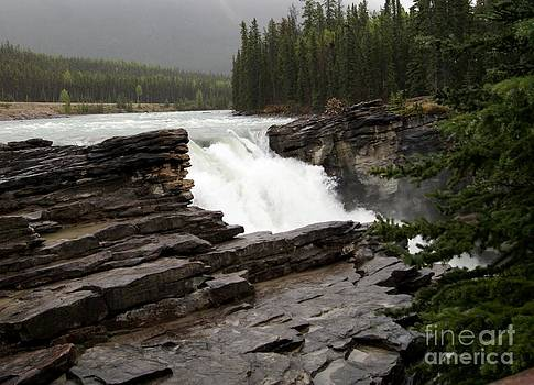 Gail Matthews - Athabasca River at top of Falls