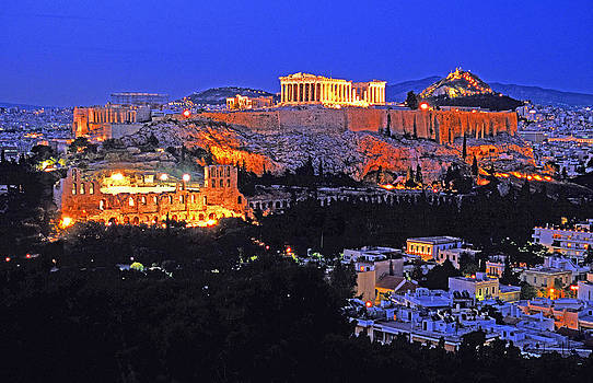 Dennis Cox WorldViews - Athens at night