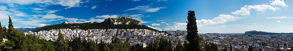 Athens Greece Panoramic 145 Degrees photo  by Vassilis Triantafyllidis
