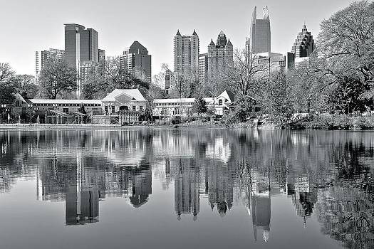 Frozen in Time Fine Art Photography - Atlanta Reflecting in Black and White