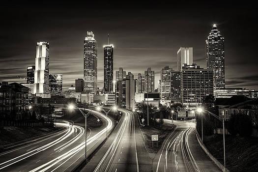 Atlanta skyline in monochrome by Robert Hainer