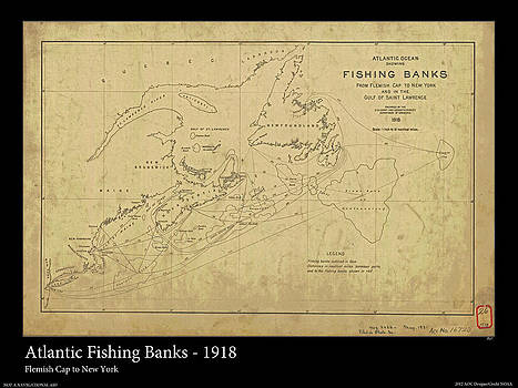 Atlantic Fishing Banks 1918 by Adelaide Images